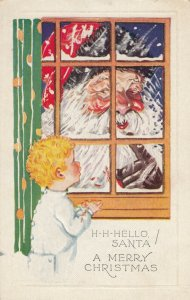 CHRISTMAS : Santa Claus at window , 00-10s