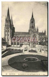 Old Postcard Bayeux Cathedral Taking The former Eveche