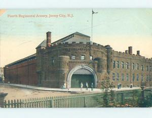 Divided-Back REGIMENTAL ARMORY BUILDING Jersey City New Jersey NJ G2434