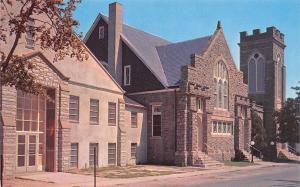 Lewes Delaware~Methodist Church~Annex~1960s Postcard