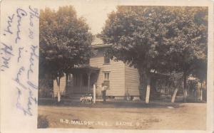E61/ Racine Ohio RPPC Postcard 1908 Meigs County B.B. Mallow Home