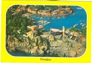 Italy, Portofino, Aerial view, 1980 used Postcard