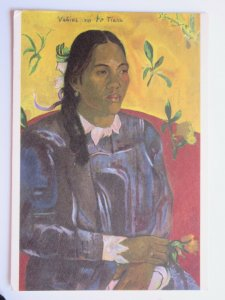 """Woman with Gardenia"" by Paul Gauguin Vintage Chrome Postcard"