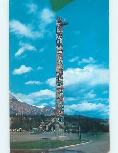 Tape Repair - Pre-1980 NATIVE INDIAN TOTEM POLE Jasper Alberta AB p9320