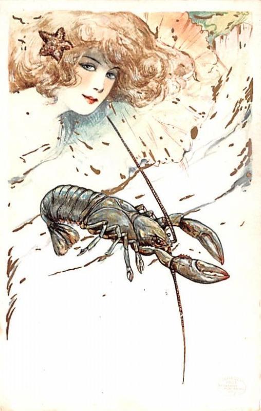 Phostint Card Detroit Publishing 1907 Artist Samuel Schmucker Unused