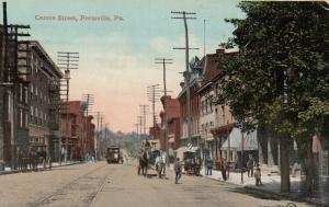 POTTSVILLE, Pennsylvania, PU-1911; Center Street, Trolley