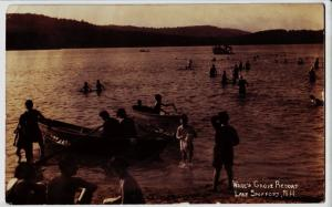 1932 LAKE SPOFFORD New Hampshire NH RPPC Real Photo Postcard WARE'S GROVE RESORT