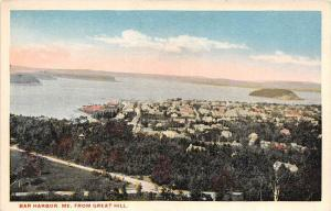 Aerial View of   Bar Harbor Maine   From Great Hill