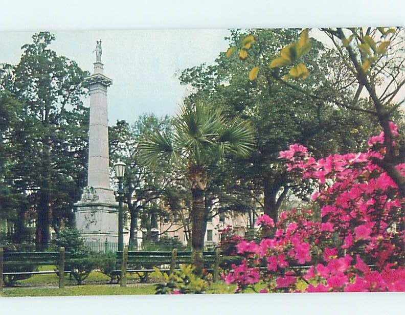 Unused Pre-1980 MONUMENT SCENE Savannah Georgia GA F1700