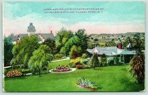 Floral Park New York~John Lewis Childs Lawn & Private Conservatories~c1910