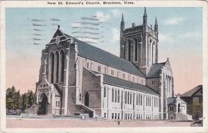 Massachusetts Brockton New St Edward's Church 1933