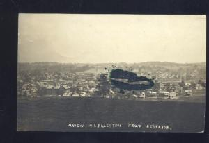 RPPC PALESTINE MIDDLE EAST AERIAL VIEW FROM RESERVOIR OLD REAL PHOTO POSTCARD