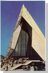 Colorado Springs, CO Postcard, Air Force Academy Chapel