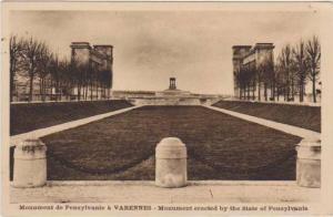 World War I Monument de Penslyvanie a Varennes, Meuse, France