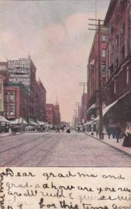 KANSAS CITY, Missouri, 1908; Walnut Street, Shops
