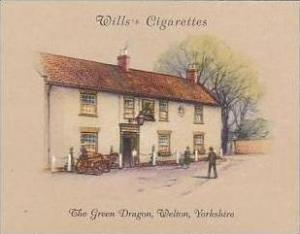 Wills Cigarette Card 2nd Series No 17 Green Dragon Welton Yorkshire