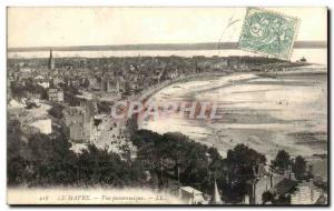 Old Postcard Le Havre View Panoramigue