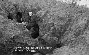 Mellette SD Falk's Fane Badlands 12/15/1912 Real Photo Postcard