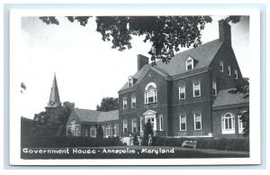 Postcard Government House, Annapolis, Maryland MD 1950+ RPPC H30