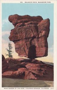 Balanced Rock Mushroom Park Near Garden Of The Gods Colorado Springs Colorado