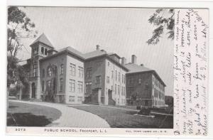 Public School Freeport Long Island New York 1905 postcard