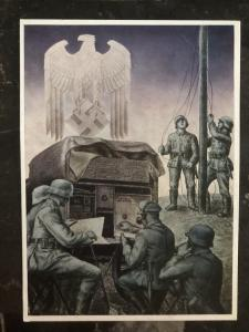 Mint Germany Patriotic Postcard News troops Whermacht WW2
