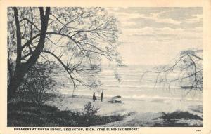 Lexington Michigan North Shore Waterfront Antique Postcard K78264