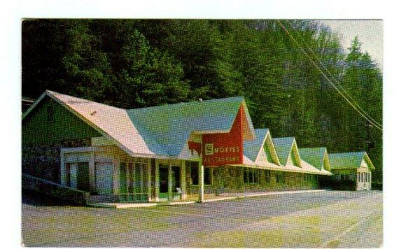 Smokies Restaurant Gatlinburg Tennessee 1966 postcard