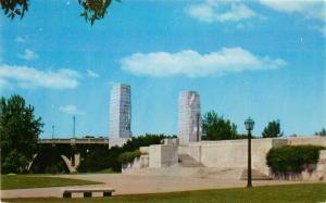 Vincennes, Indiana, IN, Lincoln Memorial Bridge, Chrome Vintage Postcard b8447