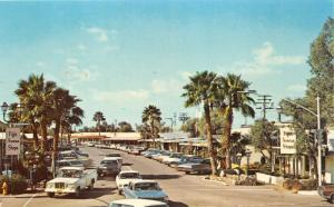 Scottsdale Arizona~Fifth Avenue~5th Avenue Shops~70s Cars & Truck~Postcard