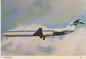 FinnAir DC-9 Airplane in Flight