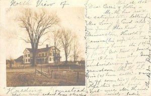 RPPC Harding Homestead PM Brattleboro, VT Southwick, MA 1906 Vintage Postcard