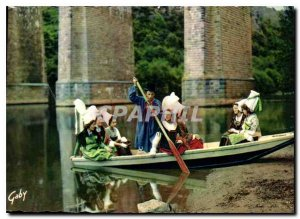 Postcard Modern Folklore France Normandy on the banks of the Orne Clecy