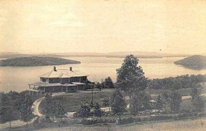 Greenville ME Looking up Moosehead Lake Real Photo Postcard