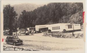 North Carolina NC Postcard c1940s FONTANA Shopping Center Real Photo RPPC