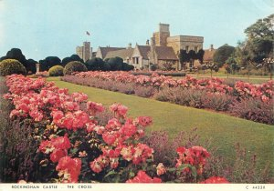 Postcard England Corby Rockingham Castle flower alley the Cross