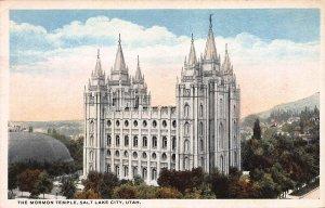 The Mormon Temple, Salt Lake City, Utah, Early Postcard, Unused