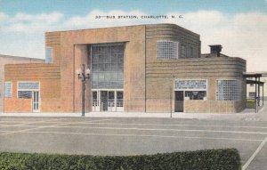 CHARLOTTE , North Carolina , 1930-40s ; Bus Station