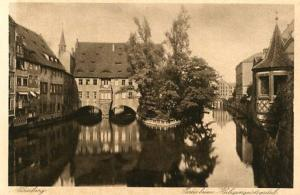 Germany - Nurnberg, The River Splits at Holy Spirit Hospital