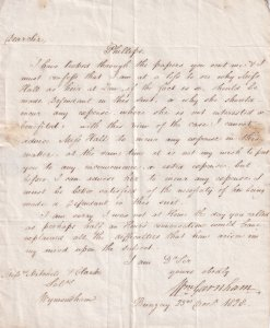 Bungay Wymondham 1828 Victorian Court Trial Antique Norfolk Letter