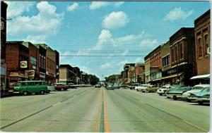 BROOKFIELD, MO    STREET SCENE  Beer Signs c1960s  Cars   Postcard