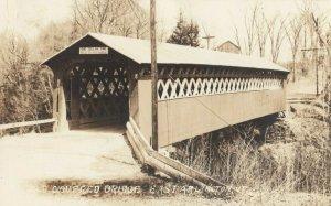 RP; EAST ARLINGTON , Vermont , 1930s ; Covered Bridge