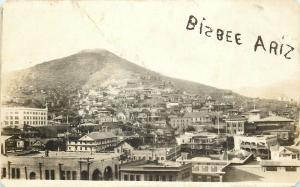 Bisbee Arizona~Birdseye Panorama~Maze Cafe~1912 Real Photo Postcard~RPPC