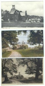h1581 - Isle of Wight - Views of the Old Quarr Abbey Ruins, Ryde - 3 Postcards