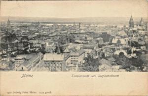 MAINZ GERMANY~TOTALANSICHT vom STEPHANSTHURM-LUDWIG FEIST 1903 PHOTO POSTCARD