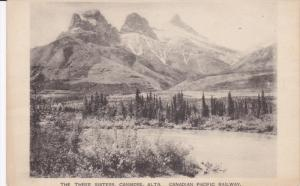 Canadian Pacific Railway, The Three Sisters, CANMORE, Alberta, Canada, 1910-1...