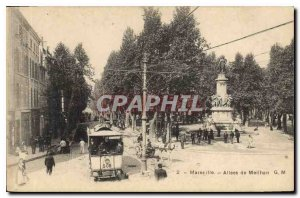 Old Postcard Marseille Allees Meilhan Tramway