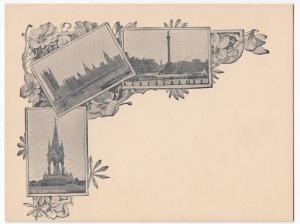 London; Court Size Multiview Card, c 1900, Unused, Trafalgar Square, Parliament