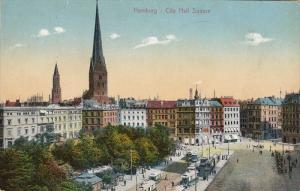 City Hall Square, HAMBURG, Germany, 1900-1910s