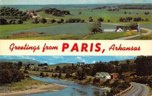Paris Arkansas~Farms In Paris~1960 Postcard